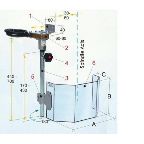 Ochranný kryt pro sloupové vrtačky 300 mm