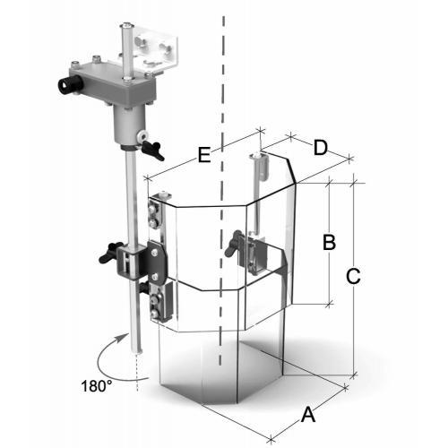 Teleskopický ochranný kryt pro vrtačky 180–300 mm