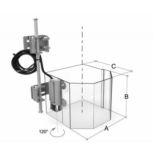 Sklápěcí plný ochranný kryt pro vrtačky, 180 mm