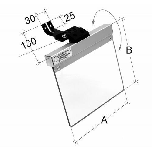 Ochranný kryt pro brusku 160 mm