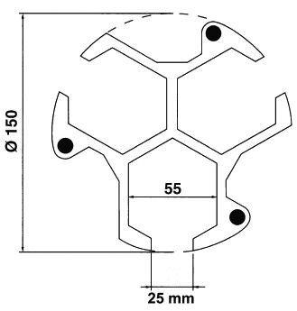 Doraz obrobku pro soustružnická sklíčidla, výška 25 mm