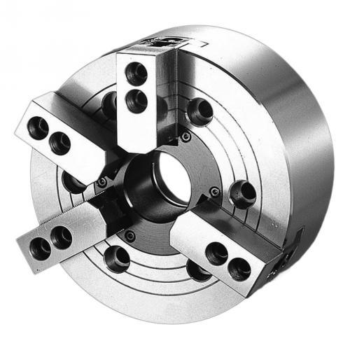 Kombinované dvou/tříčelisťové silové sklíčidlo Ø 210, A5, s otvorem, čelisti 1,5 x 60°