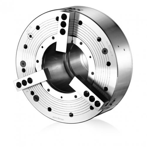 Tříčelisťové silové sklíčidlo pneumatické, Ø 850 mm, válcové upnutí