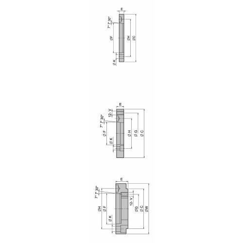 Ocelová příruba pro silové sklíčidlo NT-208, A6