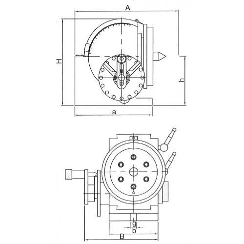 Univerzální dělicí hlava CH 134 mm