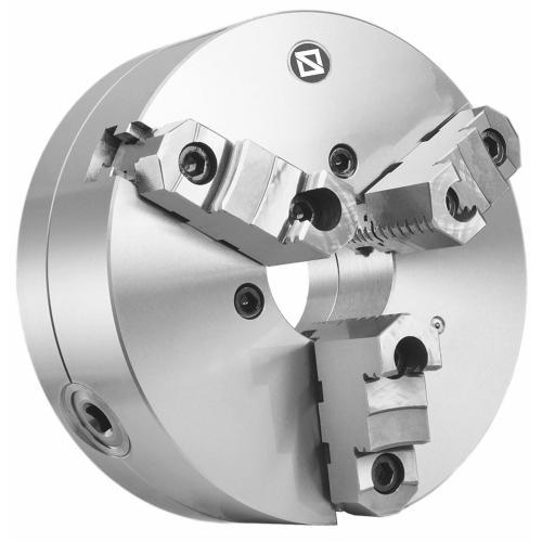 """Tříčelisťové sklíčidlo 125 mm, ocel, DIN 55029-4"""", dvoudílné čelisti, CAMLOCK"""